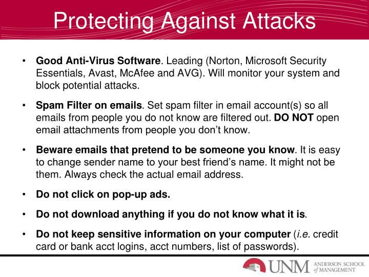 Protecting Against Attacks