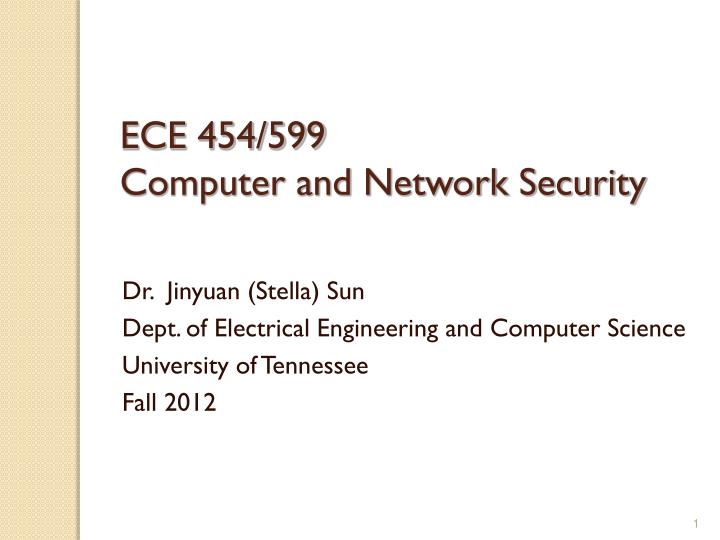 ece 454 599 computer and network security n.
