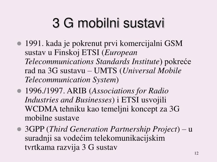 3 G mobilni sustavi