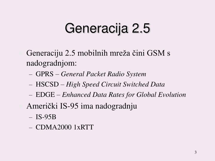 Generacija 2 5