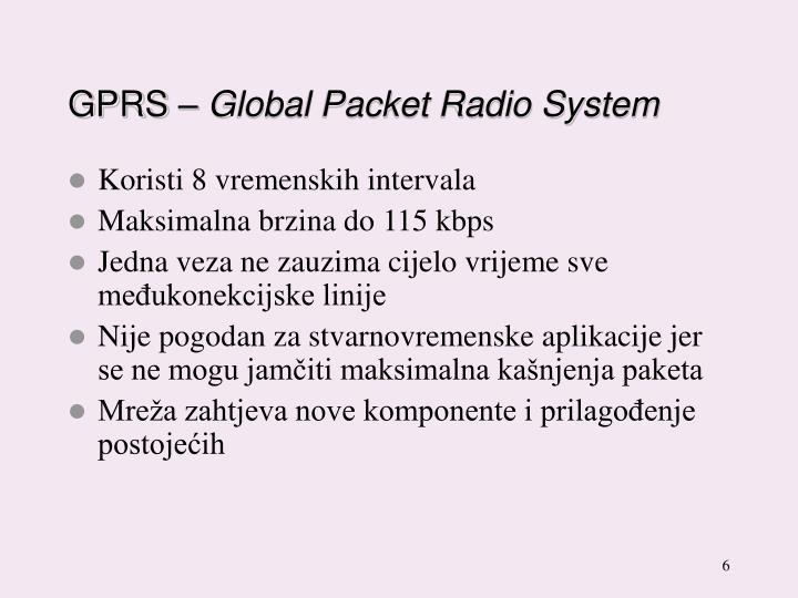 GPRS –