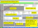 view of health history module