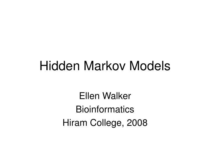 hidden markov models n.