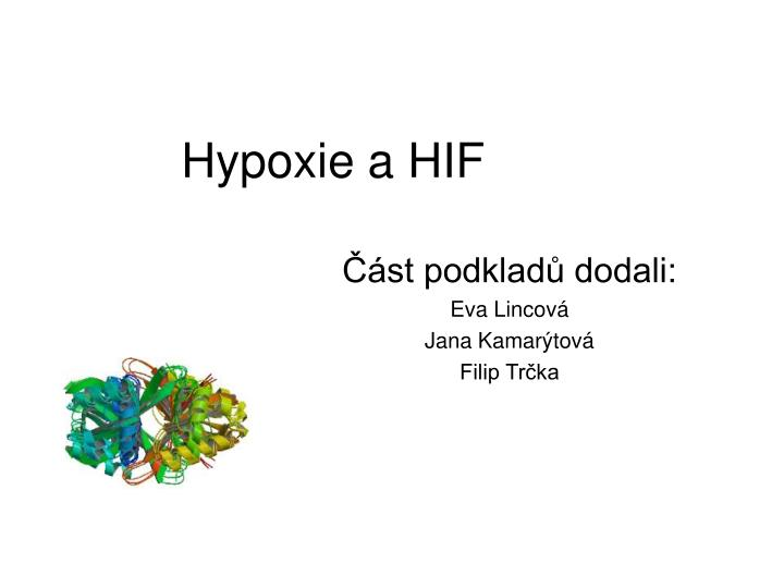 Hypoxie a HIF