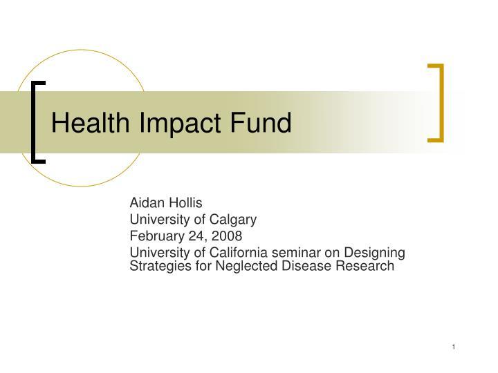 health impact fund n.