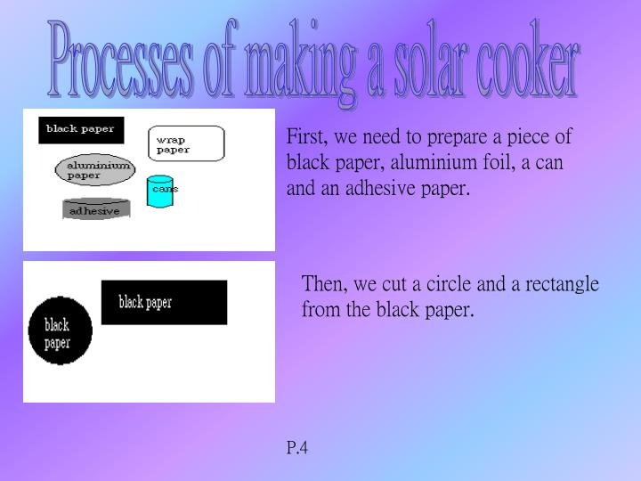 Processes of making a solar cooker