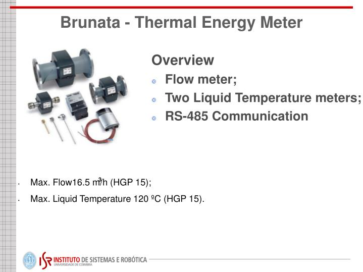 Thermal Energy Meter : Ppt ground med project data acquisition hardware and