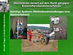 bersicht der derzeit auf dem markt g ngigen bodenluftprobenahmeverfahren22