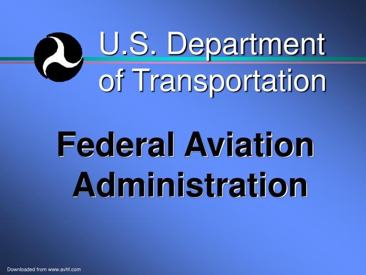 u s department of transportation n.