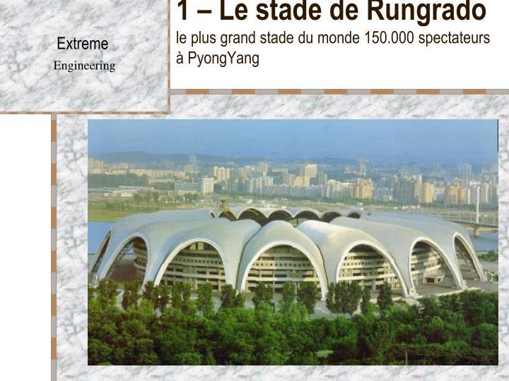 1 le stade de rungrado le plus grand stade du monde 150 000 spectateurs pyongyang n.