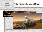 26 curiosity mars rover