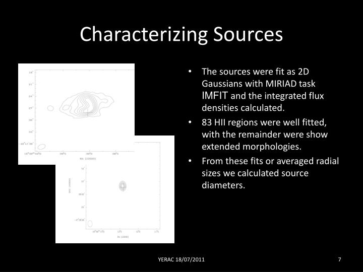Characterizing Sources