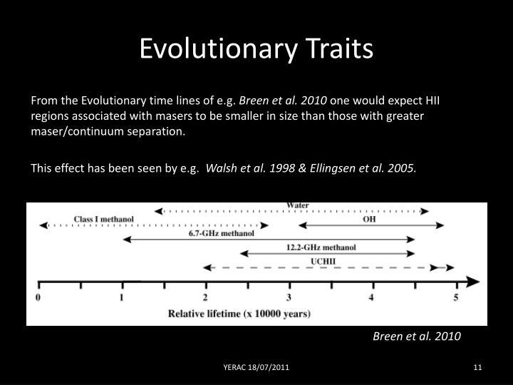 Evolutionary Traits