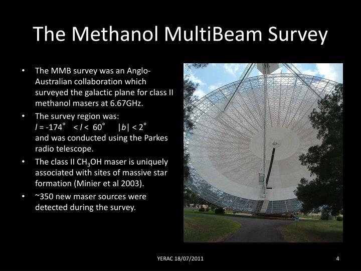 The Methanol MultiBeam Survey
