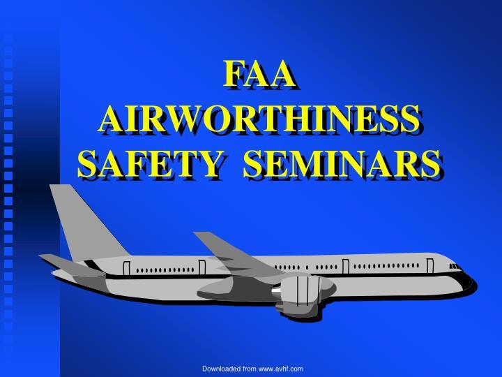 faa airworthiness safety seminars n.
