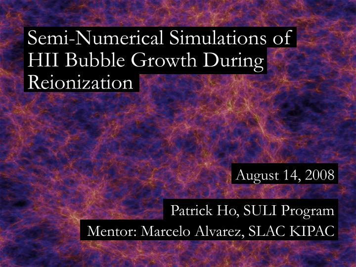 semi numerical simulations of n.