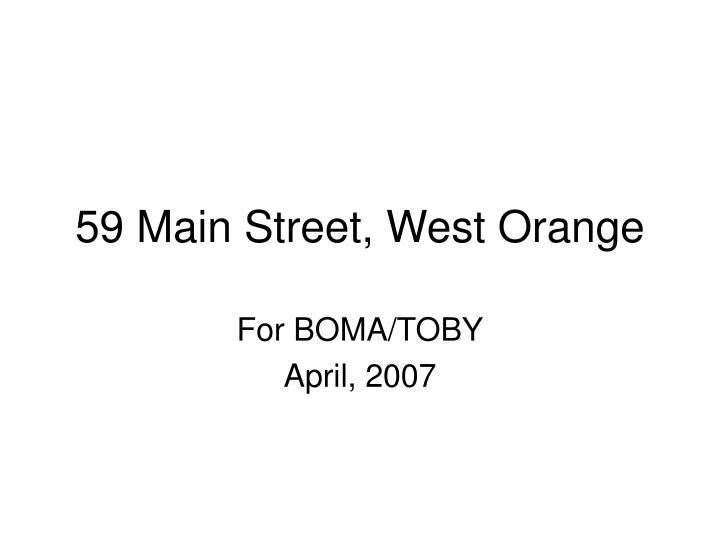 59 main street west orange n.