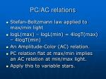 pc ac relations