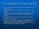 the cepheid pl relation and h0