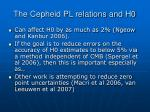 the cepheid pl relations and h0