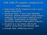 the lmc pl relation evidence for non linearity