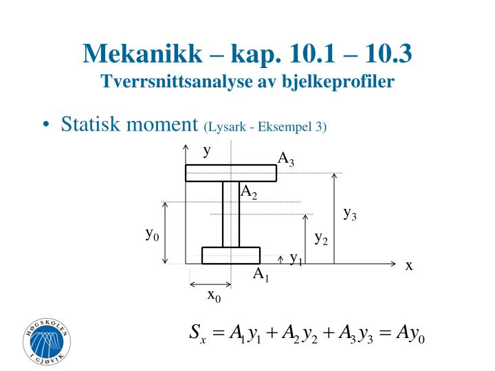 Mekanikk – kap. 10.1 – 10.3