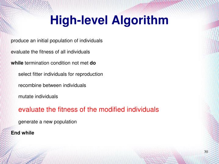 High-level Algorithm