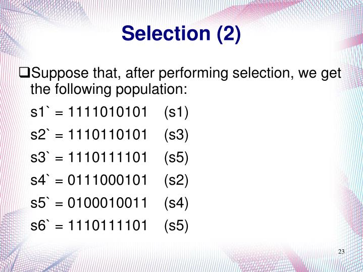 Selection (2)