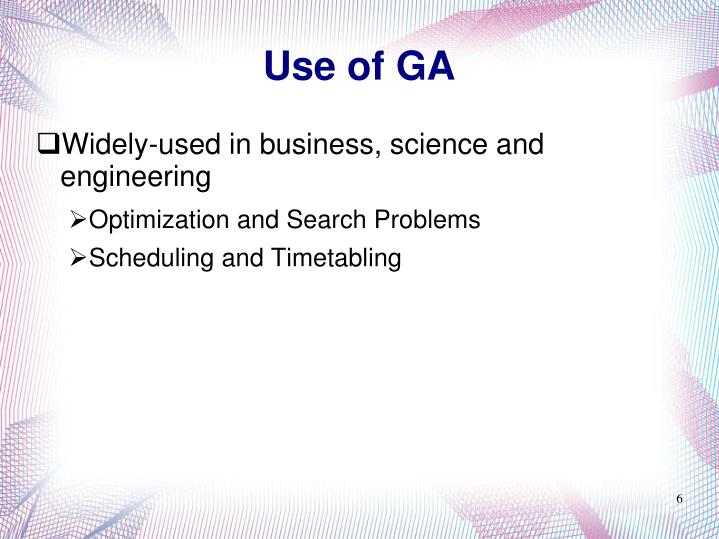 Use of GA