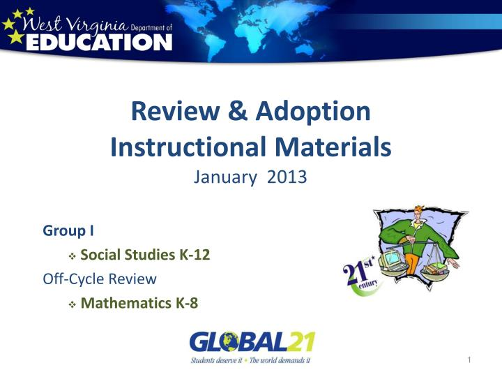 review adoption instructional materials january 2013 n.