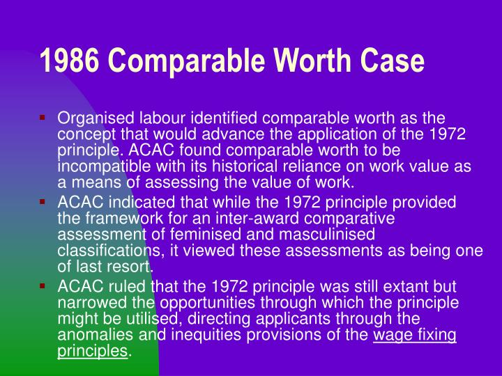 1986 Comparable Worth Case