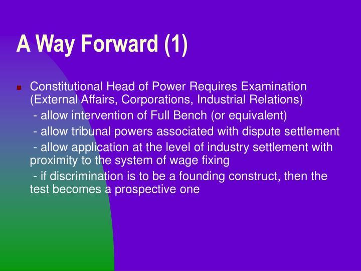 A Way Forward (1)