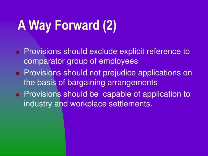 A Way Forward (2)