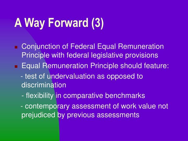 A Way Forward (3)