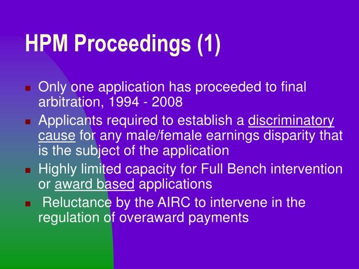 HPM Proceedings (1)