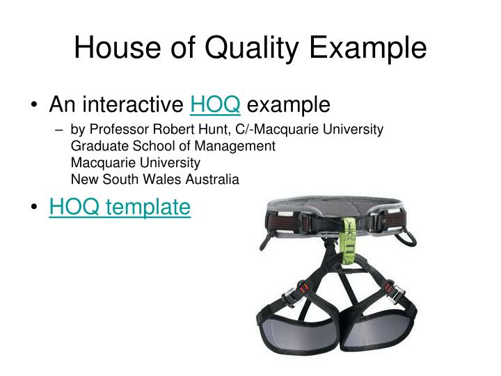 house of quality example n.