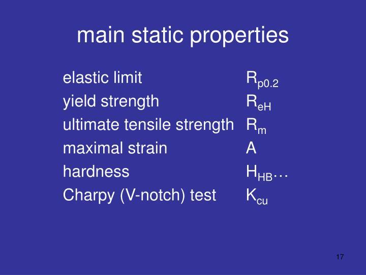 main static properties