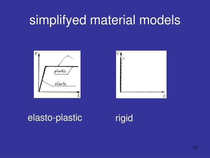 simplifyed material models