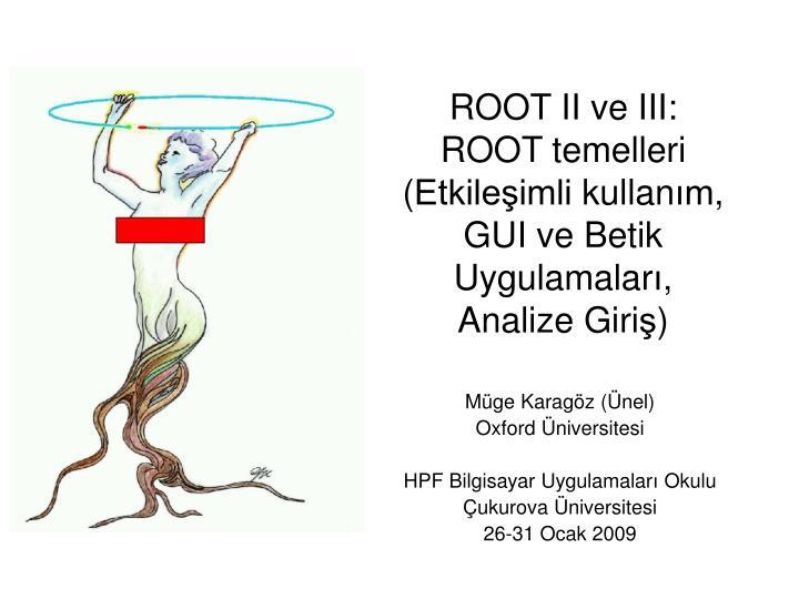 root ii ve iii root temelleri etkile imli kullan m gui ve betik uygulamalar analize giri n.