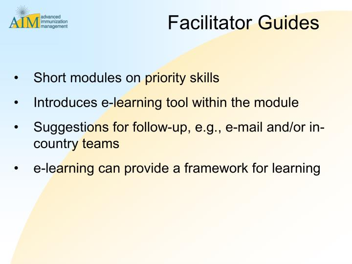 Facilitator Guides