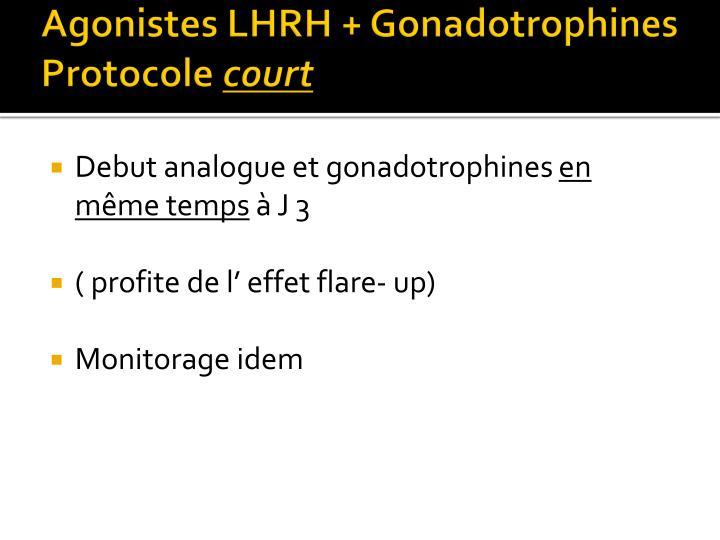 Agonistes LHRH + Gonadotrophines