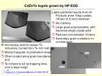 cdznte ingots grown by hp edg