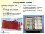 imaging detector modules