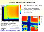 ion beam mt maps of cdznte and cdte