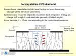 polycrystalline cvd diamond
