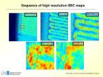 sequence of high resolution ibic maps