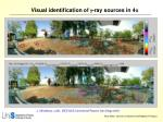 visual identification of g ray sources in 4 p