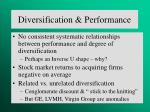 diversification performance
