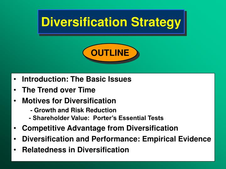 diversification strategy n.