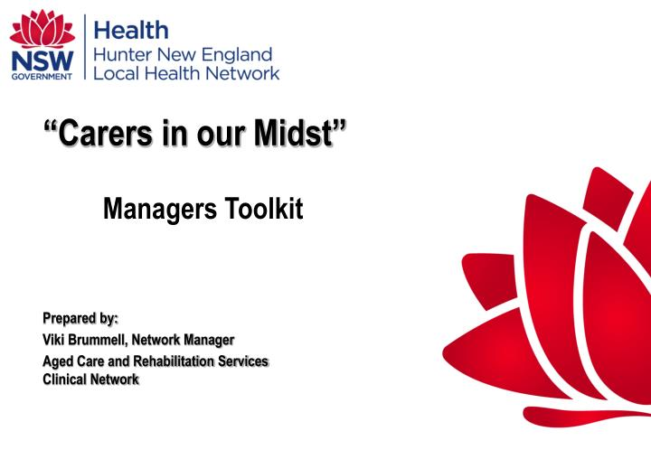 carers in our midst managers toolkit n.